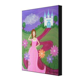 Sur le tapis rouge - 16x20 princesse Castle Kids Toile Tendue