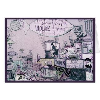 Sur les toits-1883 Robida Card
