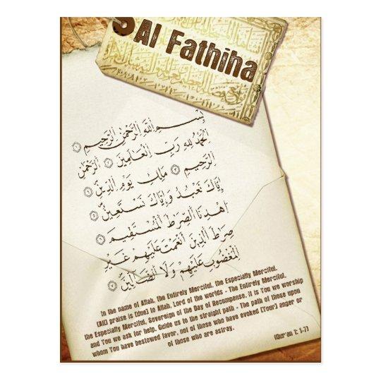 Surah Fathiha Post Card