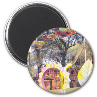 Suraj Kund Festival Outdoor party tree decorations 2 Inch Round Magnet