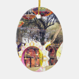 Suraj Kund Festival Outdoor party tree decorations Ceramic Oval Ornament