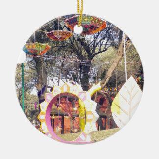 Suraj Kund Festival Outdoor party tree decorations Round Ceramic Ornament