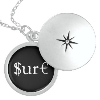 Sure funny money sterling silver necklace