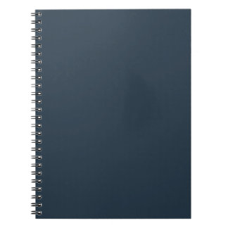 Surely Swanky Gray Color Spiral Notebook