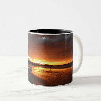 Surf and sunset mug