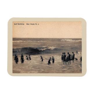 Surf Bathing, Bay Head NJ, Vintage Magnet