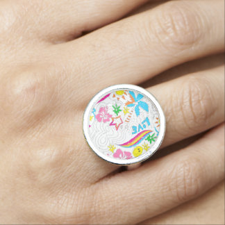 Surf beach love photo ring