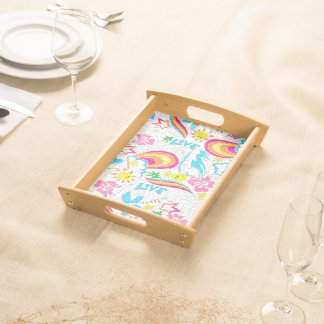 Surf beach love serving tray