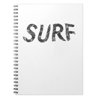 Surf  beach loving surfers skaters surfing board notebook