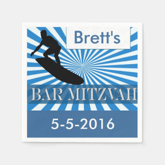 Surf board Designer Bar Mitzvah Napkins