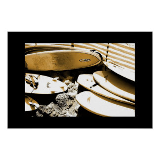 SURF BOARD PHOTOGRAPH POSTER