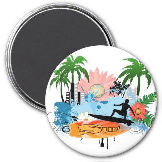 Surf boarder magnet