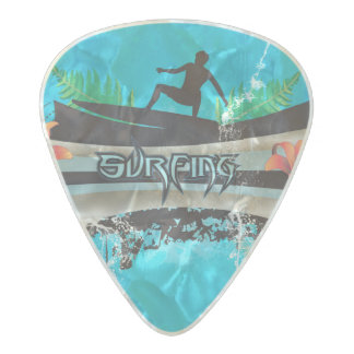 Surf boarder pearl celluloid guitar pick