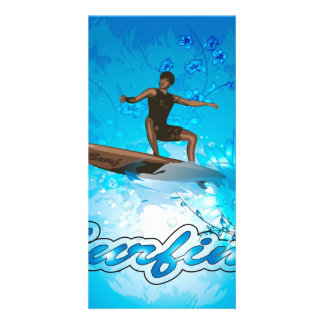 Surf Boarder Personalized Photo Card