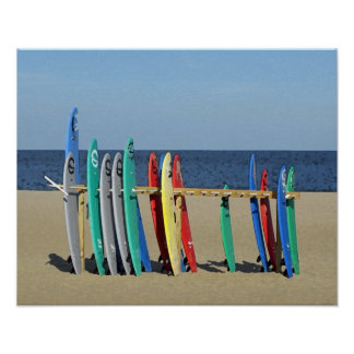 Surf boards Asbury Park NJ Beach Poster