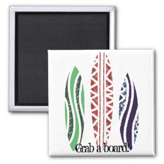 Surf boards, Grab a board! magnet