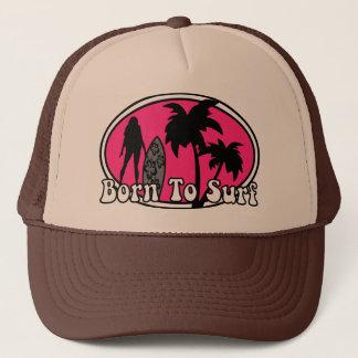 surf, born to surf trucker hat