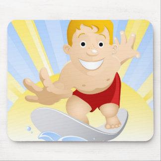 Surf boy mouse pad
