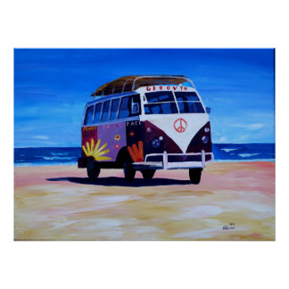 Surf Bus Groovy Edition Poster