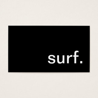 surf. business card