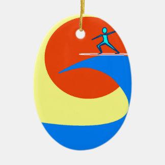 Surf Ceramic Ornament
