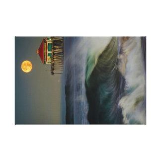 Surf City Super Moonset 11-14-16 Canvas Print