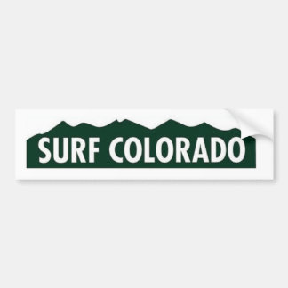 'surf colorado' SURF COLORADO FUNNY COLORADO Bumper Sticker