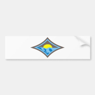 Surf diamond 3 bumper sticker