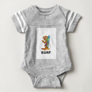 surf dog hip baby bodysuit
