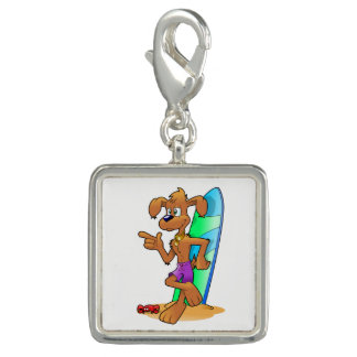 Surf Dog Photo Charm