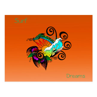 Surf Dreams Orange Postcard