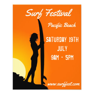 Surf festival or competition flyers