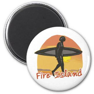 Surf Fire Island Magnet