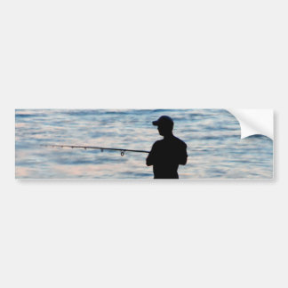 Surf Fishing At Dusk 6 Bumper Sticker