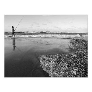 Surf Fishing Coast of Stradbroke Island Art Photo