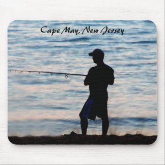 Surf Fishing In Cape May At Dusk 6 Mousepad