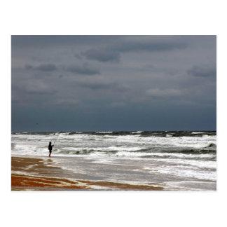 Surf Fishing Postcard