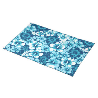 Surf floral hibiscus placemat