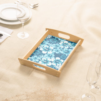 Surf floral hibiscus serving tray