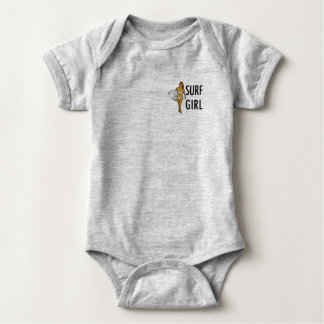 SURF GIRL BABY BODY BABY BODYSUIT