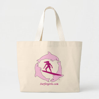 Surf Girls Large Tote Bag