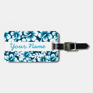 Surf graphic floral luggage tag