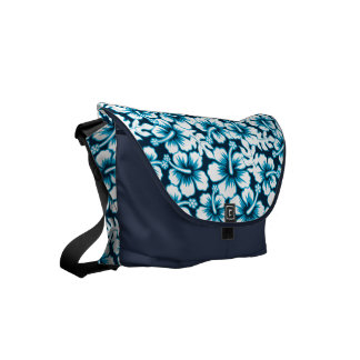 Surf graphic floral messenger bags