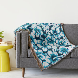 Surf graphic floral throw blanket