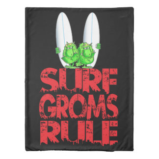 Surf Groms rule Duvet Cover
