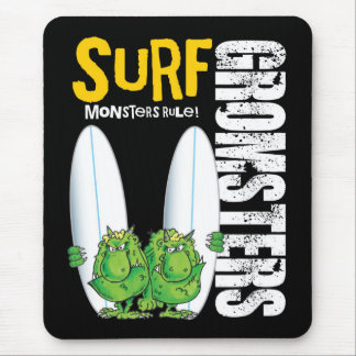 Surf Gromsters black Mouse Pad