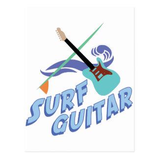 Surf Guitar Postcard