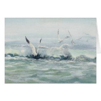 SURF GULLS & SEA  by SHARON SHARPE Card