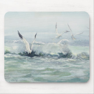 SURF GULLS & SEA by SHARON SHARPE Mouse Pad