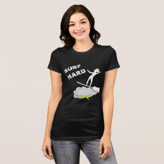 Surf Hard Like A Witch Black T-Shirt